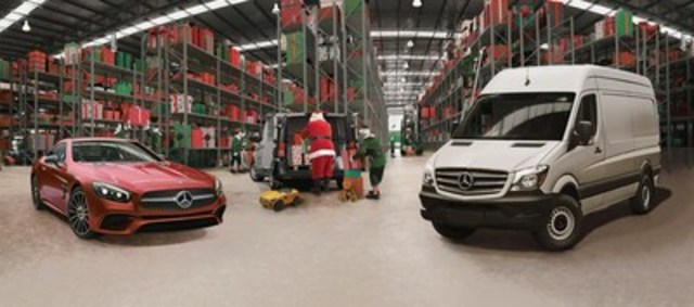 From now until December 12, Mercedes-Benz Toronto Retail Group dealerships across the GTA will be collecting unwrapped toys for children of all ages. All donations will be loaded into Santa's Sprinter and delivered to the Toronto Fire Fighters Toy Drive. (CNW Group/Mercedes-Benz Canada Inc.)