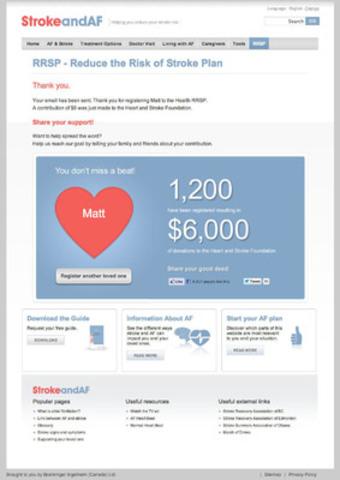 Website Strokeandaf.ca (CNW Group/Boehringer Ingelheim (Canada) Ltd.)