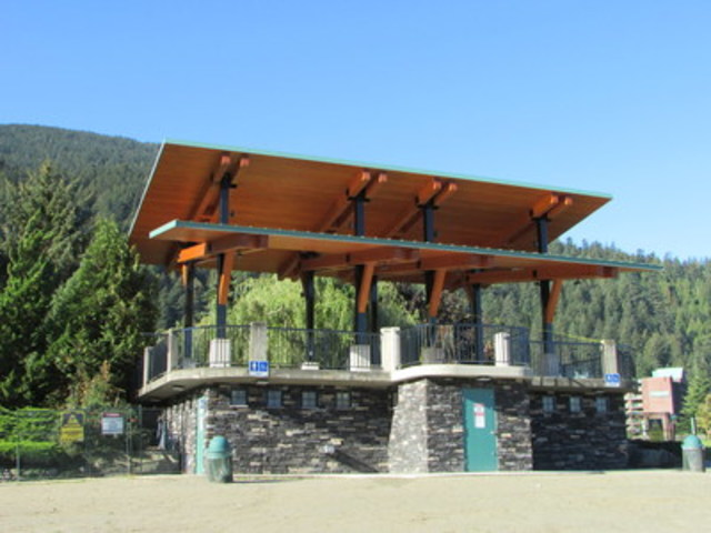 LMLGA --Lower Mainland Local Government Association: Village of Harrison Hot Springs for the Beach Washrooms Facility Upgrade (CNW Group/Canadian Wood Council for Wood WORKS! BC)