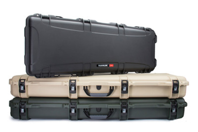 Designed for both weapons and industrial equipment, NANUK 990 & 995 Long Cases offer the extra length you need to protect your equipment. (CNW Group/Plasticase Inc)