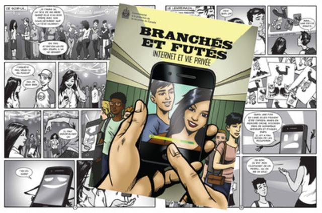 Une bande dessinée romanesque aide les jeunes à naviguer en ligne en protégeant leur vie privée. (Groupe CNW/Commissariat à la protection de la vie privée du Canada)