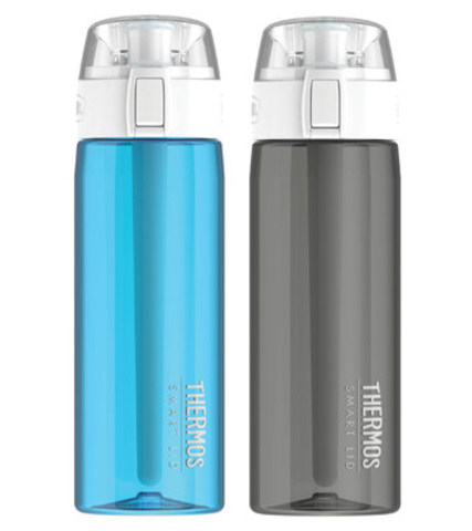 Hydration has a new hero. Genuine Thermos(R) Brand introduces its smartest product innovation yet - the Thermos(R) Connected Hydration Bottle with Smart Lid. Now available in Canada, the Connected Bottle allows consumers to customize and monitor their water intake through the Thermos Smart Lid app and stay hydrated, no matter what life throws at them. (CNW Group/Genuine Thermos® Brand)