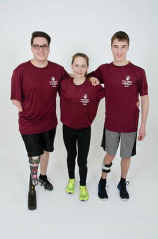 Jeffrey, Aurélie, Philippe (Groupe CNW/Hôpital Shriners pour enfants)