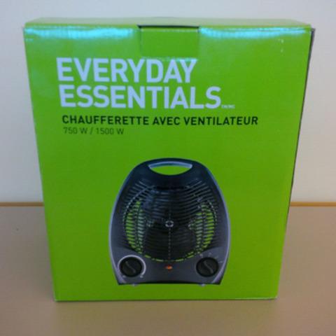 Chaufferettes avec ventilateur EVERYDAY ESSENTIALS(MC) de 750W/1500W (Groupe CNW/Les Compagnies Loblaw limitée)