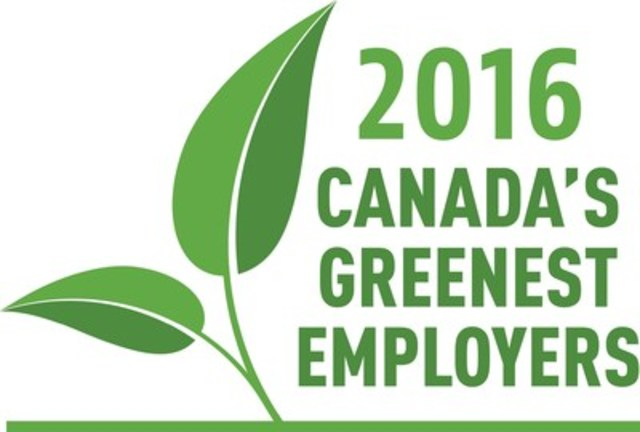 2016 Canada's Greenest Employers (CNW Group/Mediacorp Canada Inc.)