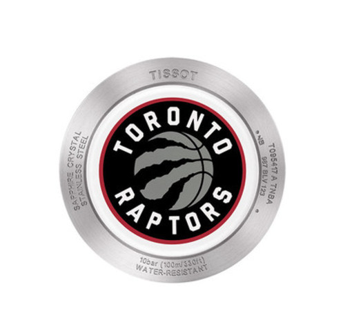Tissot Quickster NBA Toronto Raptors Watch, caseback (CNW Group/Tissot)