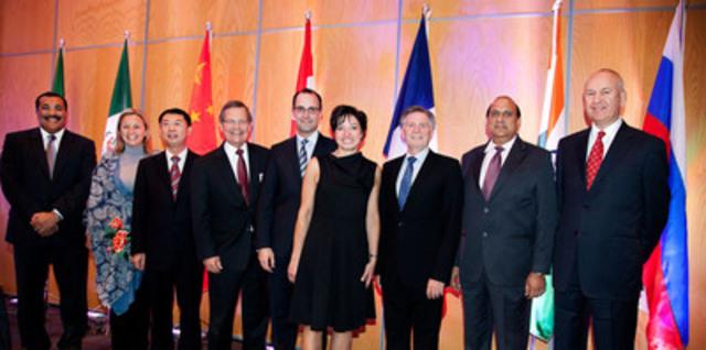 Membres délégués de banques de développement international lors de la réunion inaugurale du Groupe de Montréal. (Groupe CNW/BANQUE DE DEVELOPPEMENT DU CANADA)