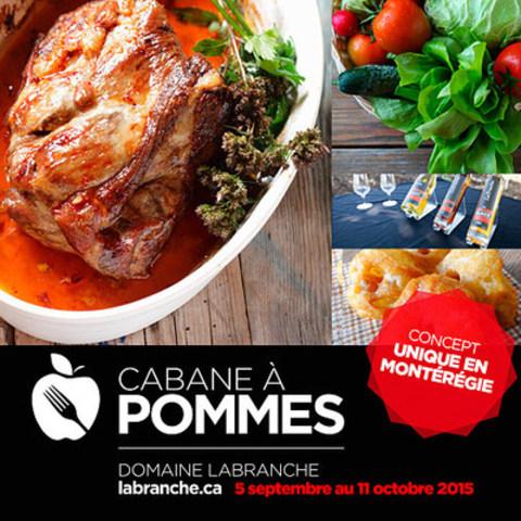 Repas de la cabane à pommes du Domaine Labranche 2015 (Chef ITHQ) (Groupe CNW/Domaine Labranche)