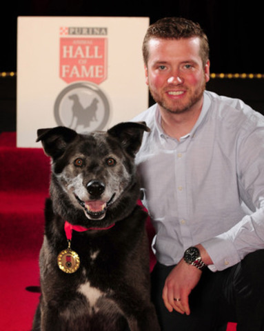 Adam Shaw's dog, Rocky, was inducted into the 2014 Purina Animal Hall of Fame (CNW Group/Purina Animal Hall  ...