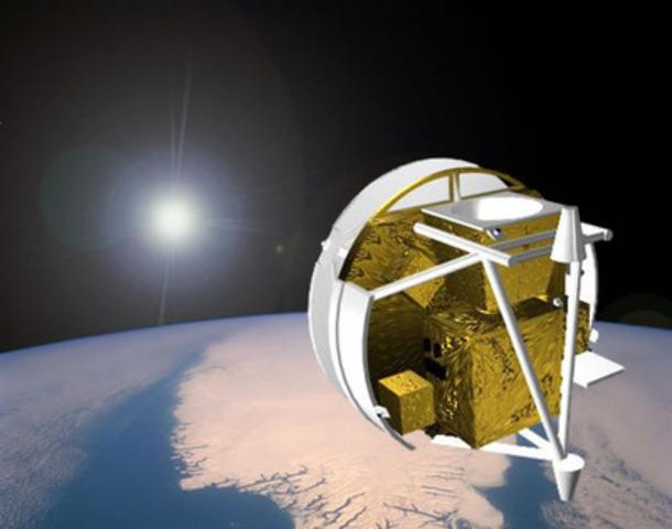 SCISAT satellite, a milestone in Canada's successes in space. Photo credit : Bristol Aerospace. (CNW Group/ABB inc.)