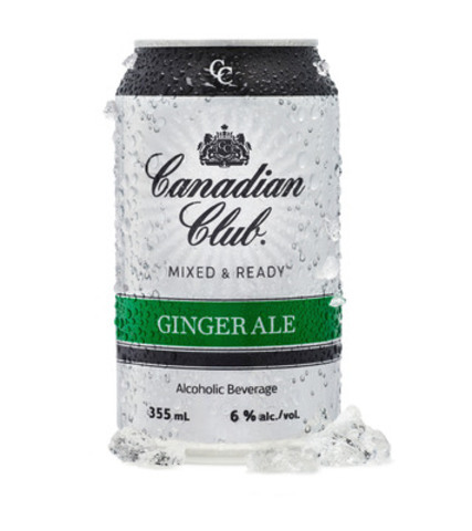 Canadian Club Mixed & Ready Ginger Ale 355 mL (CNW Group/Beam Inc.) (CNW Group/Canadian Club) (CNW Group/Canadian Club Whisky)