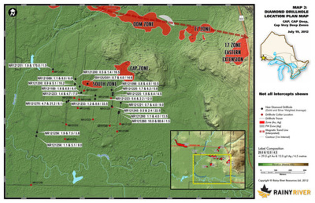 Map 2 - CAP Plan View (CNW Group/Rainy River Resources)