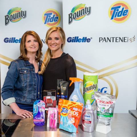 Canadian heptathlete Brianne Theisen-Eaton (right) and her mother Kim Theisen join P&G's Thank You Mom campaign. (CNW Group/Procter & Gamble)