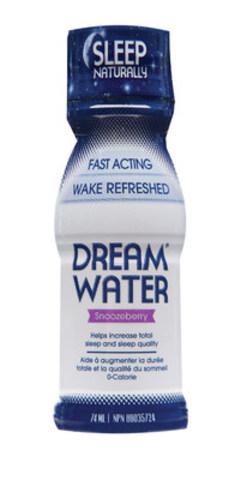 Dream Water, l'aide-sommeil liquide à effet rapide sans ordonnance, qui vous aide à dormir naturellement, prend d'assaut le marché canadien. Il sera disponible dès ce mois-ci sur les rayons des épiceries, pharmacies, magasins d'aliments naturels et dépanneurs dans tout le pays. Dream Water est offert en bouteille à dose unique et doit être pris 30 minutes avant le coucher. www.dreamwatercanada.ca (Groupe CNW/Dream Water Canada)