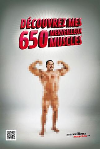 Affiche de la campagne merveilleuxmuscles.ca (Groupe CNW/DYSTROPHIE MUSCULAIRE CANADA)
