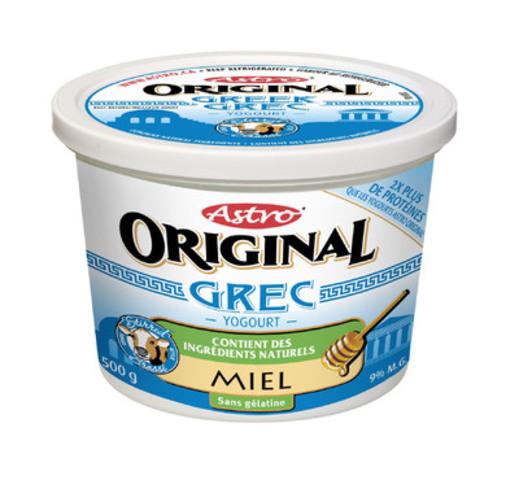 Astro Original Grec Yogourt - Miel (Groupe CNW/Parmalat Canada)