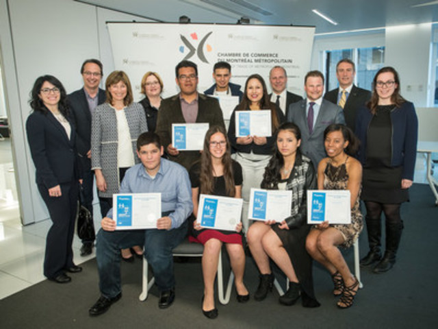 The Board of Trade celebrates the end of the 20th edition of Operation Back to School by awarding seven high school students with scholarships in Greater Montreal. (CNW Group/Board of Trade of Metropolitan Montreal)