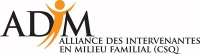 Logo : ADIM (Groupe CNW/Alliance des intervenantes en milieu familial Suroît)