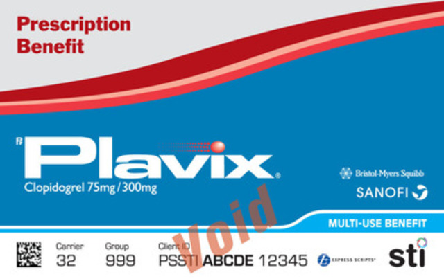 Plavix® Prescription Benefit Card (CNW Group/STI Technologies Inc.)