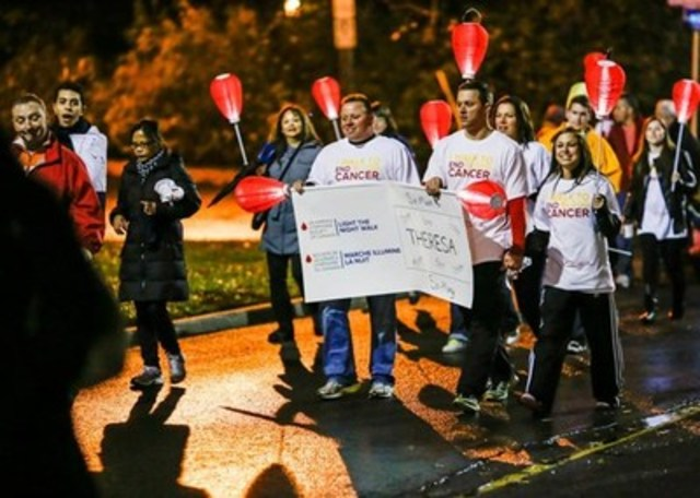 Thousands of participants expected to walk along Rideau Canal carrying illuminated lanterns to support the fight to end blood cancers during the 7th annual Light The Night Walk in Ottawa on October 22. (CNW Group/The Leukemia & Lymphoma Society of Canada)