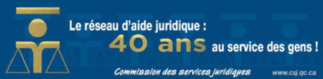 Le réseau d'aide juridique fête ses 40 ans cette année! (Groupe CNW/Commission des services juridiques)