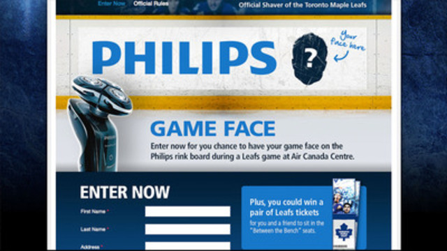 Contest rewards best game face, encourages early playoff beards as show of support (CNW Group/Royal Philips)