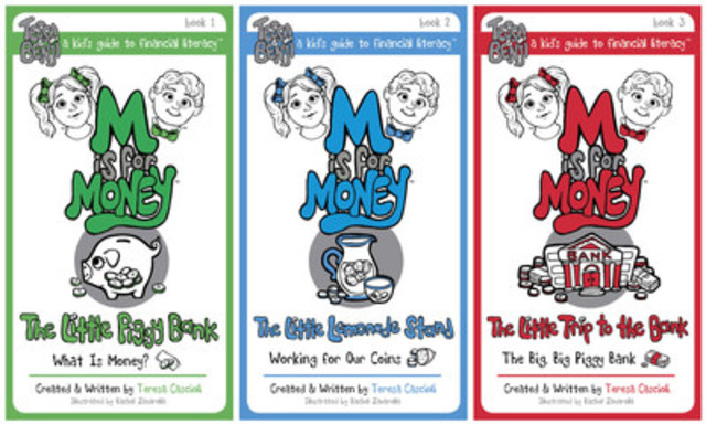 Aimed at children 5-9, the M is for Money series follows the adventures of twins Tessa and Benji as they learn about Canadian currency, budgeting, visiting a bank, saving and more (CNW Group/M is for Money)