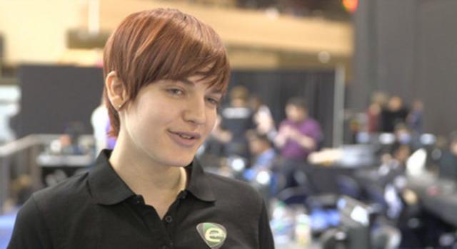 B-Roll: Sasha Hostyn Gamertag Scarlett interview competing at Intel Extreme Masters