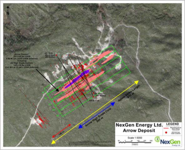 Figure 4: Arrow Drill Hole Locations (CNW Group/NexGen Energy Ltd.)