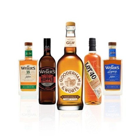 Corby's Canadian Whiskies Earn Global Recognition at World Whiskies Awards (CNW Group/Corby Spirit and Wine Communications)