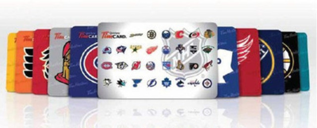 Tim Hortons today launched special edition NHL TimCards available at timhortons.com for a limited time. All 30 NHL teams have their own individual Tim Hortons Tim Card. (CNW Group/Tim Hortons Inc.)