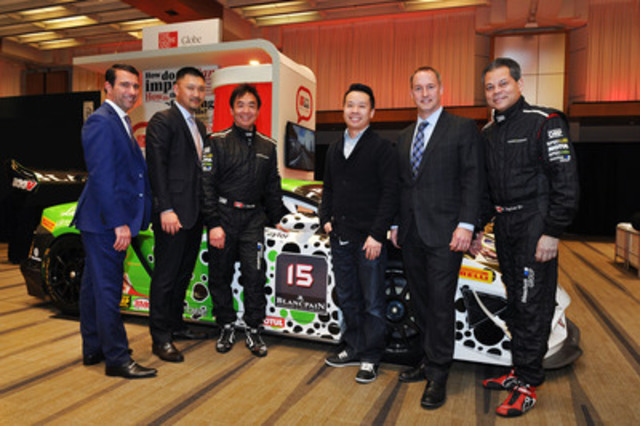 From left to right: Paul Lazzari,  Grand Touring Automobiles (Maple); Danny Tran,  Grand Touring Automobiles; Joe Chan,  Paragon Competition; Mike Chau,  Contest Winner; Shawn Morris,  Grand Touring Automobiles and a driver from Paragon Competition. (CNW Group/Grand Touring Automobiles)