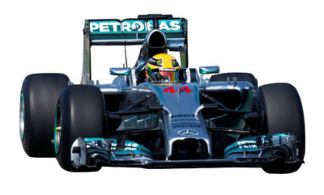 Lewis Hamilton set to race in his MERCEDES AMG PETRONAS Formula One Team car at Top Gear Festival Barbados (CNW Group/Barbados Tourism Authority)