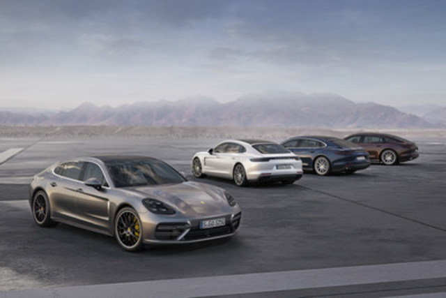 Debut of the 2017 Porsche Panamera 4 and Panamera Executive models. (CNW Group/Porsche Cars Canada)