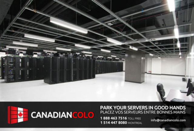 Datacentre room of Canadian Colo (CNW Group/Canadian Colo)