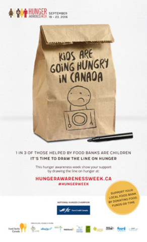 This Hunger Awareness Week, Let's Draw the Line on Hunger (CNW Group/Food Banks Canada)