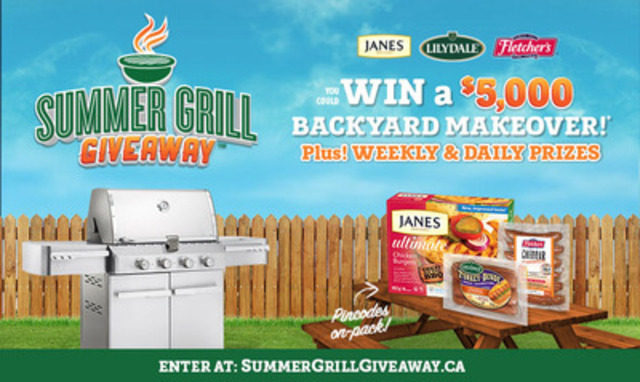 Enter Pincodes found on specially marked packs of Lilydale, Janes and Fletcher's products at summergrillgiveaway.ca (CNW Group/Blue Band Media)