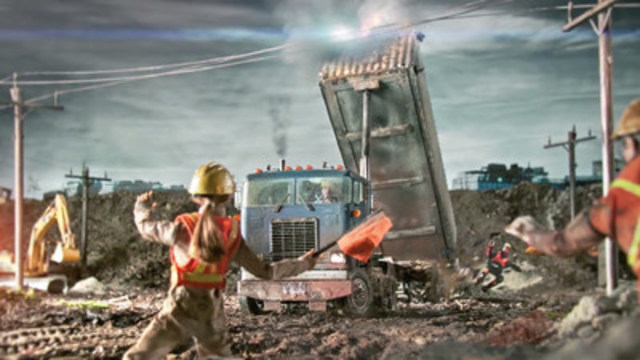 Dump trucks at construction sites remain a significant powerline contact concern to ESA, with incidents doubling from 2009 to 2014. (CNW Group/Electrical Safety Authority)