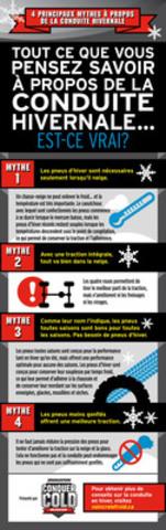 TOUT CE QUE VOUS PENSEZ SAVOIR À PROPOS DE LA CONDUITE HIVERNALE...EST-CE VRAI? (Groupe CNW/Bridgestone Canada Inc.)