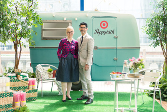 Today, Jan Halvarson, co-founder of Vancouver-based blog Poppytalk, along with partner and husband, Earl Einarson celebrated the upcoming limited time only Poppytalk for Target collection with media and friends at the Vancouver Art Gallery.  The event previewed the glamping themed entertaining collection, which will launch exclusively at Target stores across Canada and the United States on June 22, 2014, and all under $25. (CNW Group/Target Corporation)