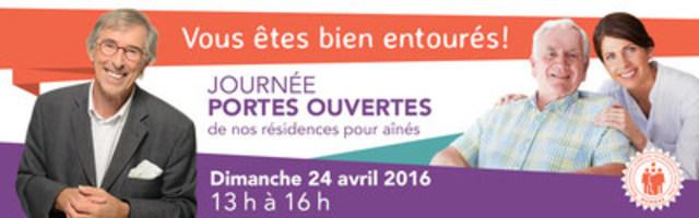 Journée portes ouvertes 2016 du RQRA – Détails au www.rqra.qc.ca (Groupe CNW/Regroupement québécois des résidences pour aînés)