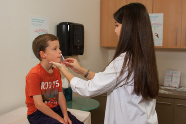 To help protect against seasonal influenza, Canadians can receive the FluMist® Quadrivalent vaccine through some public health programs for children (2-17), in doctor's offices and at some pharmacies. Visit www.flumistcanada.ca for more information. (CNW Group/AstraZeneca Canada Inc.)