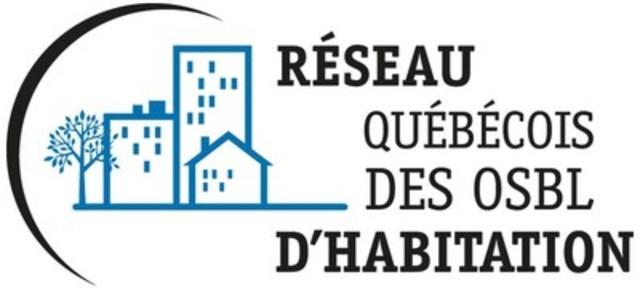 Logo : Réseau québécois des OSBL d'habitation (Groupe CNW/Réseau québécois des OSBL d'habitation (RQOH))