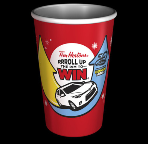 RRRoll Up the Rim to Win is back and Canada's favourite coffee contest is better than ever with more than $57 million in prizes and a new Bonus Roll to celebrate Tim Hortons 50th anniversary. (CNW Group/Tim Hortons)