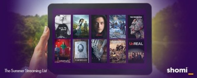 shomi Summer Streaming List - whether you spend summer in the sun or in the shade, at a cottage or in the city (CNW Group/shomi)