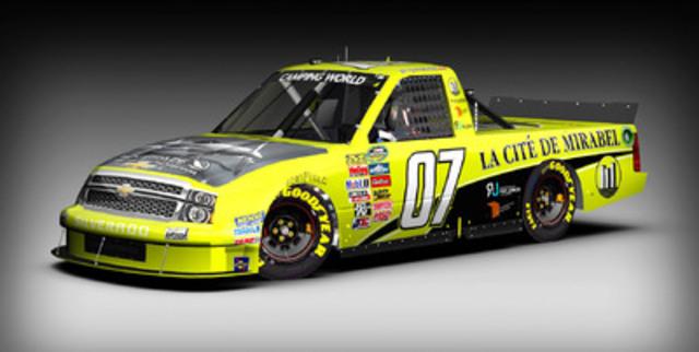 Le pilote NASCAR de La Cité de Mirabel / Blackshape Aircraft, Ray Junior Courtemanche poursuivra son apprentissage en Virginie au volant d'une camionnette de la série NASCAR Camping World. (Groupe CNW/La Cité de Mirabel inc)