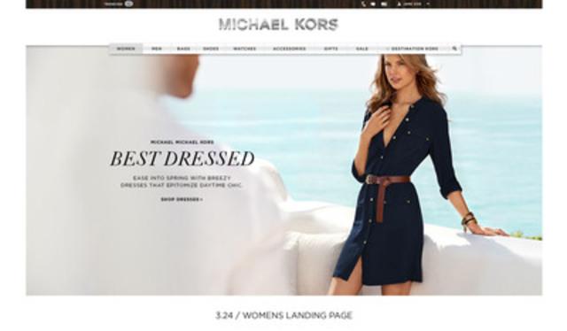 Michaelkors.ca website landing page (CNW Group/Michael Kors Canada)