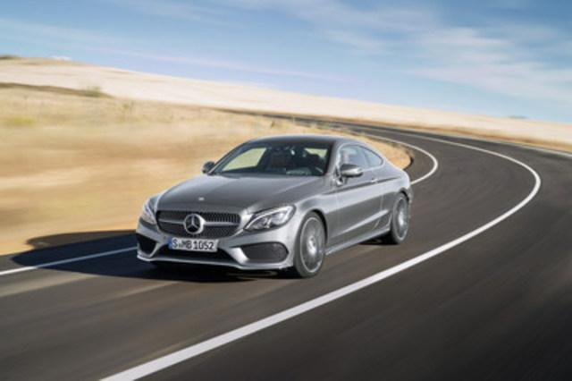 Athlétique et sportif, le nouveau Coupé de Classe C au design dynamique et sensuel a fière allure sur la route et incarne le luxe contemporain. (Groupe CNW/Mercedes-Benz Canada Inc.)