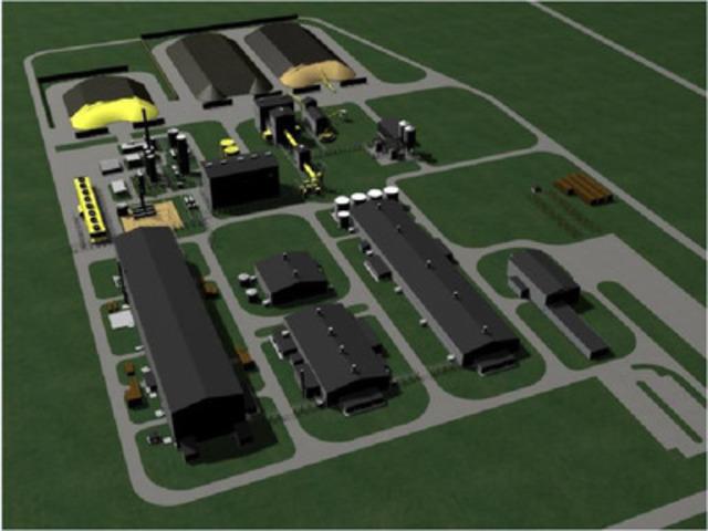Complexe industriel que Minéraux rares Quest projette de construire à Bécancour. (Groupe CNW/Minéraux rares Quest Ltée)