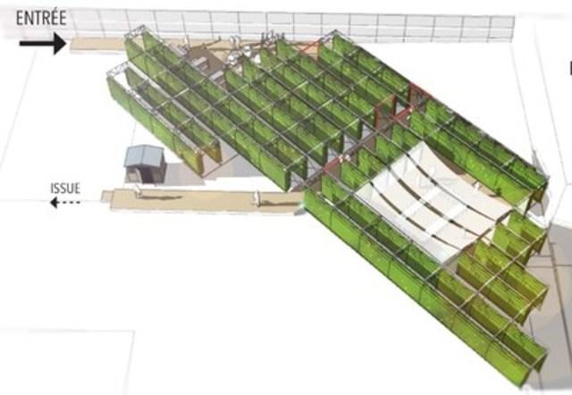 Modelling of the VERTical project (CNW Group/Palais des congrès de Montréal)